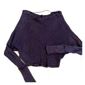Free People navy blue sweater long sleeve size XS